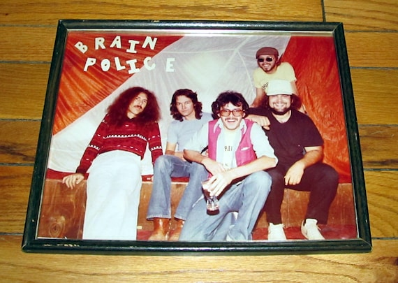 Famous 1960's Psychedelic Band - Brain Police - Huge Original Photograph - Framed Under Glass - Hippie / Rock / Music / Counterculture /