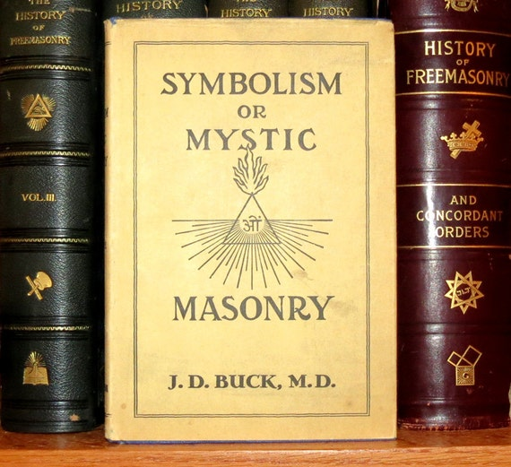 Occult Freemasonry RARE Book - Symbolism or Mystic Masonry - Antique Hardbound with DJ - Hidden Meanings