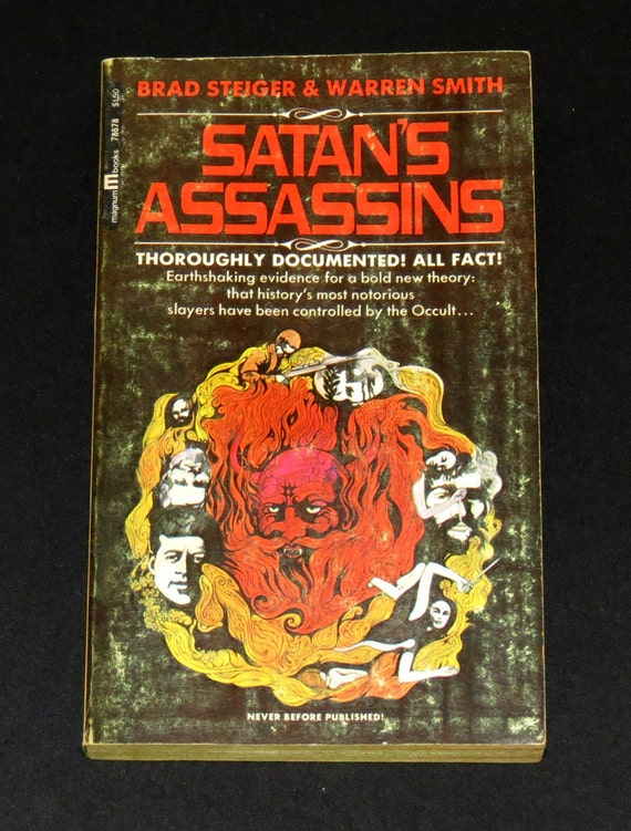 Satans Assassins - Vintage 1970s Book - Occult Influence on Killers - Conspiracy Theories - Illuminati - Bizarre Book