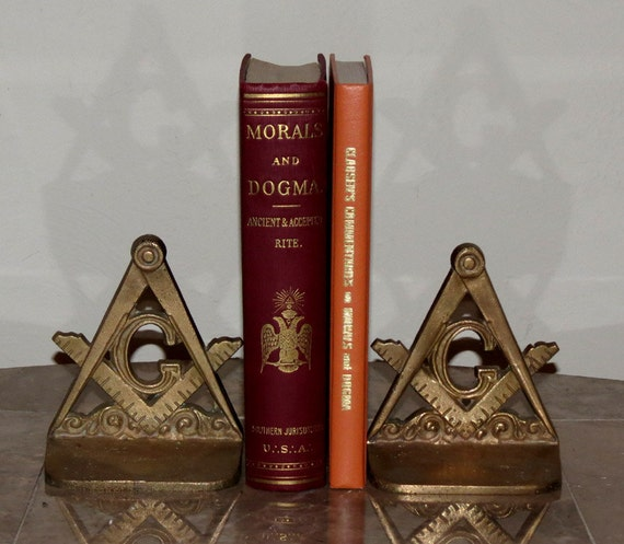Reserved - Set of Two Rare Masonic Books -Esoteric FreeMasonry - Antique / Vintage - Given To High Ranking Masons - Clean  / Excellent Cond