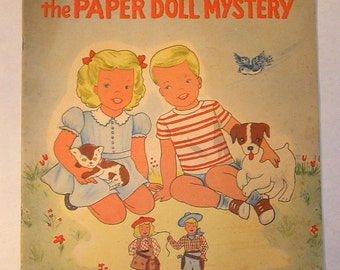 SALE--Prices Slashed up to 40%--Rare 1954 The Bobbsey Twins and the Paper Doll Mystery