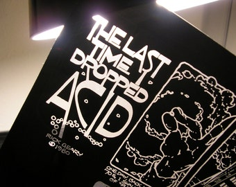 The Last Time I Dropped Acid, 1991 Rick Geary, Original Print Production Cel