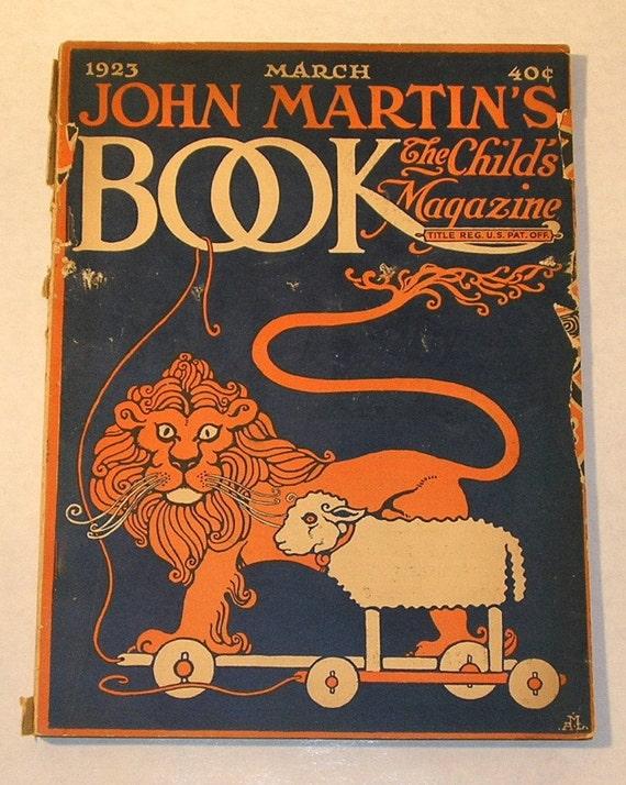March 1923 John Martin's Book, The Child's Magazine, Art Deco, Illustrated