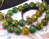 Faceted  Agate 14mm Gemstone beads Loose One strand 15""