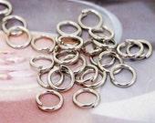 Jumpings Plated Silver Filigree Metal Hoop 6mm---200beads