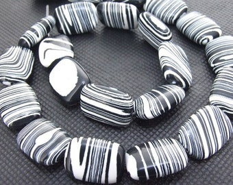 Strands Zebra Stripe 18mmx12mmx7mm malachite gemstone bead Loose One strand