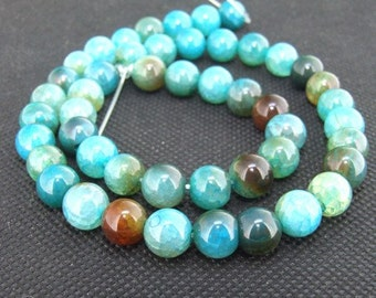 "10mm round agate beads,Loose beads,full strand of agate round,agate stone beads FULL STRAND 16""gemstone"