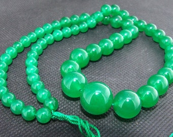 Strands green  jade gemstone bead Loose One strand
