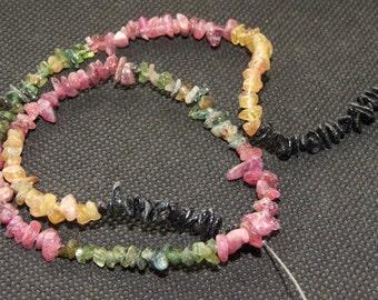 "Tourmaline 3-5mm Gemstone bead Loose One strand 15.5"""