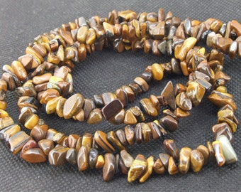"gemstones Loose nugget Tiger Stone Crystal beads stone FULL STRAND 34"""