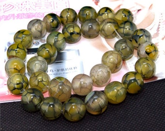 "12mm round agate beads,Loose beads,full strand of agate  FULL STRAND 14.5"" gemstone"