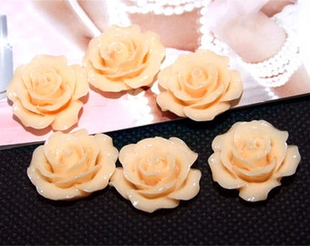 Resin flowers 20mm --- 6Beads