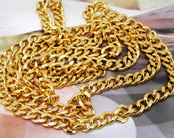 Loop Twist Cut  Yellow Gold Chain 2mm--- 38""