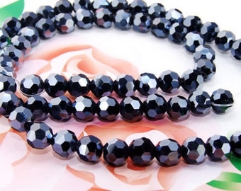 "8mm faceted AB Round Crystal glass beads,Loose beads-- FULL STRAND 20""  gemstone beads"