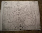 Vintage 1960's DISNEYLAND Plot Plan MAP BLUEPRINT Copy