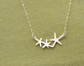 Gold Necklace, Starfish Necklace, Delicate, Everyday Jewelry, Simple Necklace, Minimal jewelry