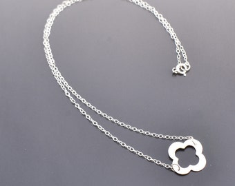 Sterling Silver Clover Necklace - Dainty - Everyday - Lucky