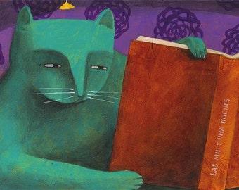 Cat reader by Carlos C Lainez