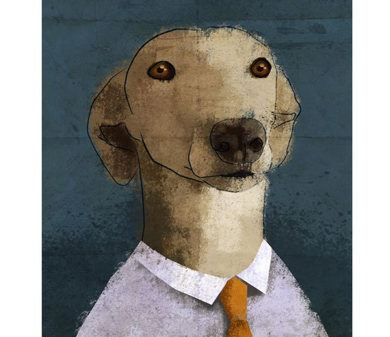 Dog tie. Print poster 16,5 x 11,6 (A3)