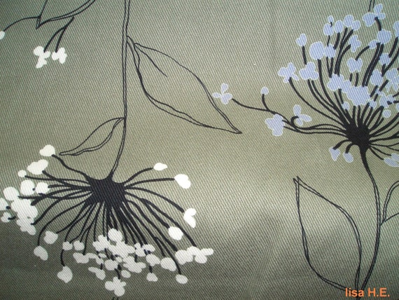 Flowers bloom in early evening, fat quarter, WIDE fabric, pure cotton twill fabric