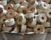 Vintage Thread Bobbins (10) - Creamy White
