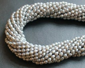 Silver Pearls Freshwater Cultured Rice Shaped 4.5mm FULL STRAND (16 Inches)