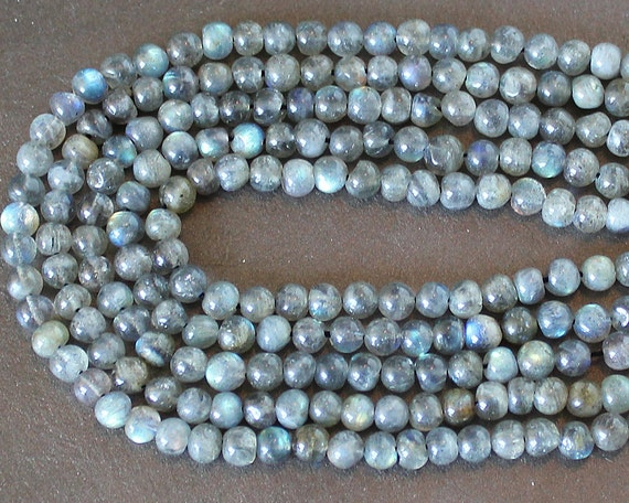 Labradorite Round Beads 5-6mm FULL STRAND (14 Inches)