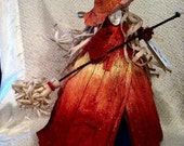 Blessing Witches (Fire Witch) Corn Doll  OOAK