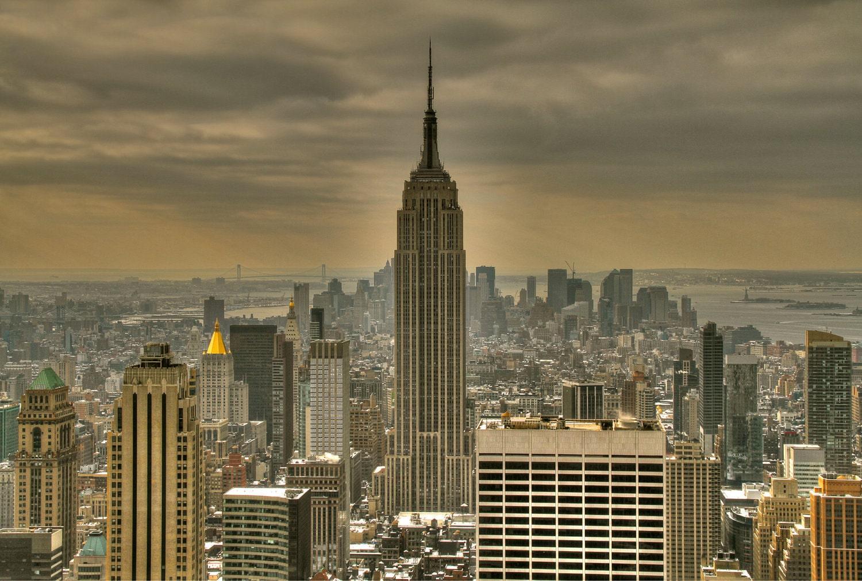 new york city photograph empire state building manhattan. Black Bedroom Furniture Sets. Home Design Ideas