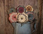Scrappy Flower Bouquet Farmhouse Rustic Country Primitive Decor