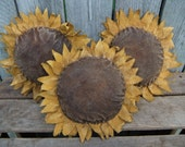Primitive Sunflower Bowl Fillers Ornies Tucks Extra Large RESERVED for Sassy13