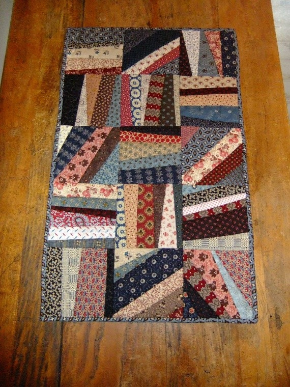 Scrappy String Quilt Runner