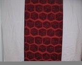 True vintage Kimono silk 1950s CLASSIC KIKKU Russet 14 x 50 inches  TREASURY Item