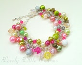 Beautiful handmade custom charm bracelet