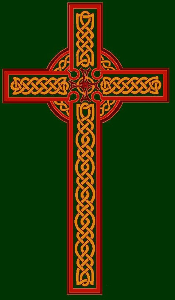 Hand Screenprinted Celtic Cross Knotwork T-Shirt