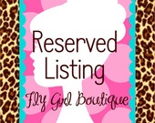 Reserved Listing for Sasha