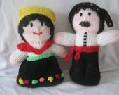 Hand Knitted Greek Dolls in traditional costume
