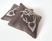 Organic Lavender Linen Sachets OWL- Set of Two - Free Worldwide Shipping