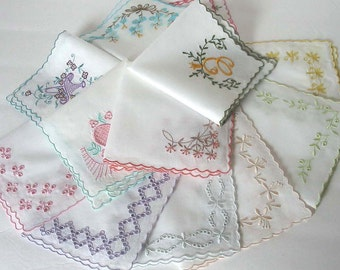 Custom Embroidered Handkerchief Monogrammed Hankie Monogramming Wedding Handkerchief Personalized Handkerchief Vintage Hankie Made to Order