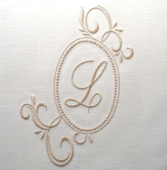 CUSTOM Embroidered MONOGRAM for Weddings, Celebrations - Made to Order Christmas Gift