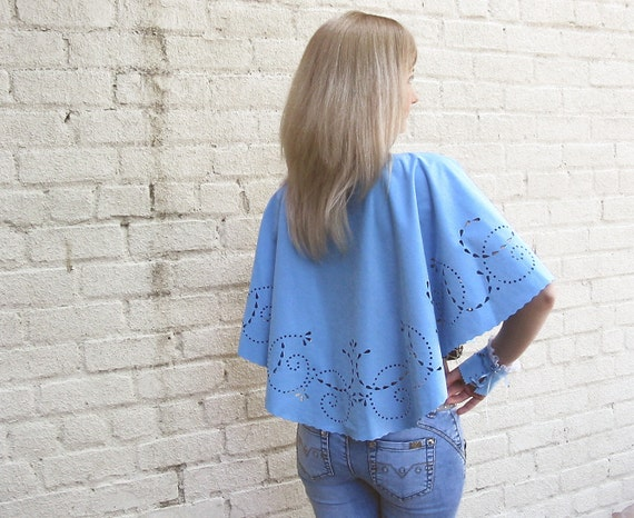 OOAK Suede Capelet  BLUEBELL - tbteam