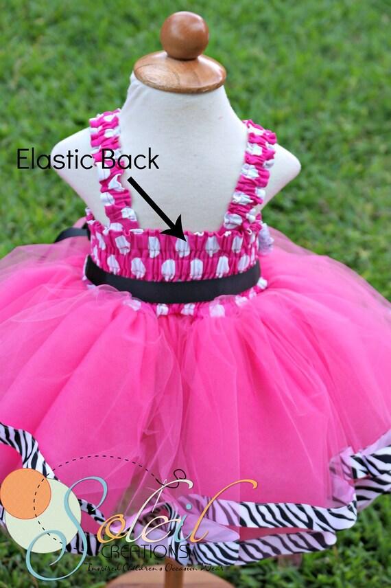 Zebra pink minnie mouse dress tutu 1st birthday party