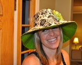Reversible Sun Hat with Ribbon Flower- Adult