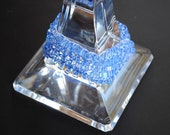 Handknit Bracelet - Blue Ice