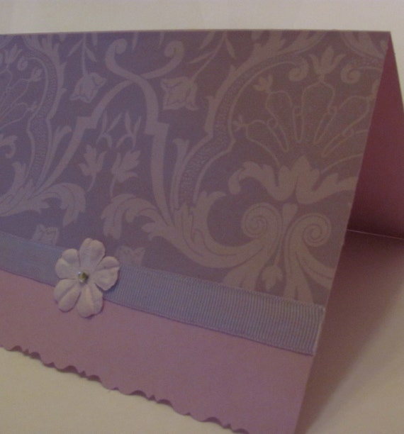 Handcrafted, Handmade, Purple Card, Lilac Greeting Card, Floral Card, Birthday Card, Blank Card, Thank You Card