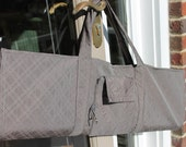 Grey and White Yoga Sling
