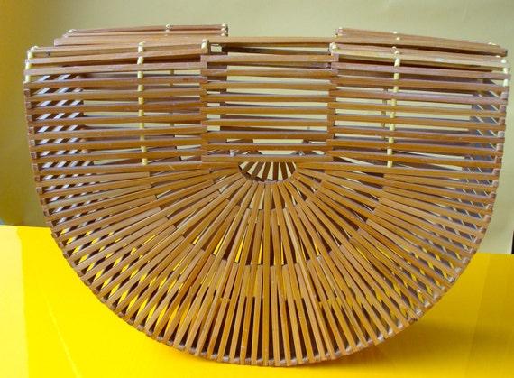 Vintage Purse Bamboo Birdcage Purse