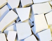 475 White Filler Mosaic Tiles Hand Cut Variety Tesserae China Ceramic Dinnerware