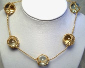 Gold Ramune Marble Necklace