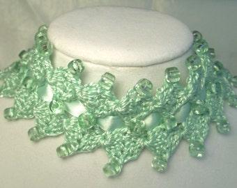 Mint Green Double Diamond Choker